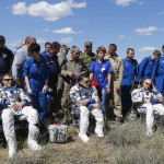 The International Space Station crew,
