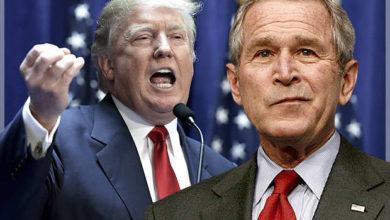 George bush against trump