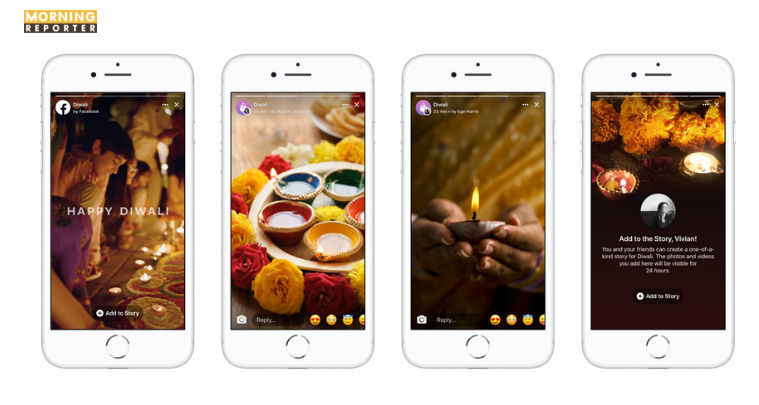 facebook diwali stories