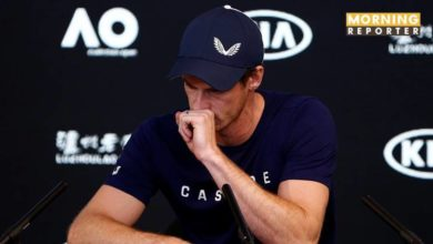 Andy Murray of England speaks to the media during a press conference at the Australian Open in Melbourne